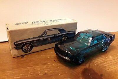 Vintage Avon 1964 Ford Mustang Blue, With Box