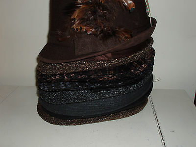 Wholesale lot of 8 Fedora hats for $5 each!!!