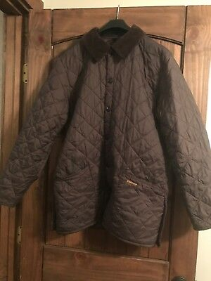 Mens Brown Quilted Jacket Size S