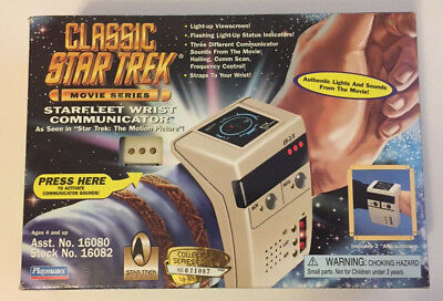 Star Trek Movie Series Starfleet Wrist Communicator 1996 Playmates Unopened Box