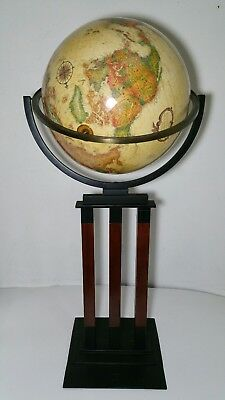 "Replogle World Classic Series 16"" Rotating Globe on Floor Stand Pedestal Metal"