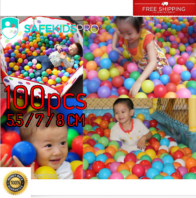 Pool 100pcs Baby Colorful Water Ocean Wave Ball for Baby Toy 5.5/7/8cm Safe Kids