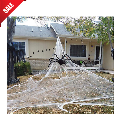 Outdoor Halloween Decoration Spider Web Haunted House Props Yard Scary Decor