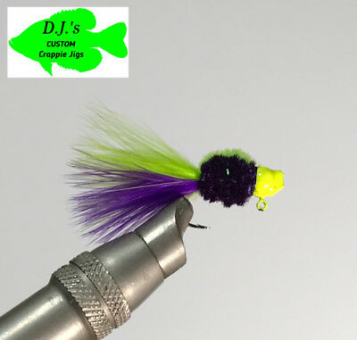 Gills #079-H 4 pack of hand tied 1//16 jigs Crappie Trout and Bass