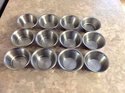 12 SAUCE CUPS POLISHED STAINLESS STEEL 2oz CONTAINER KITCHEN PORTION CONDIMENT