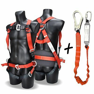Fall Arest Protection Universal Padded Safety Harness Kit