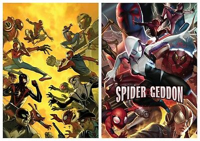 Spider-Geddon #3 Cover A & In-Hyuck Lee Connecting Variant Set Pre-Sale 2018