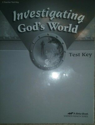 A BEKA BOOK Investigating God's World Test Booklet Teacher Key Grade