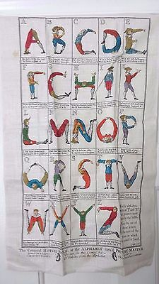 Linen Wall Hanging COMICAL HOTCH POTCH Alphabet jester joker Children Kid Towel
