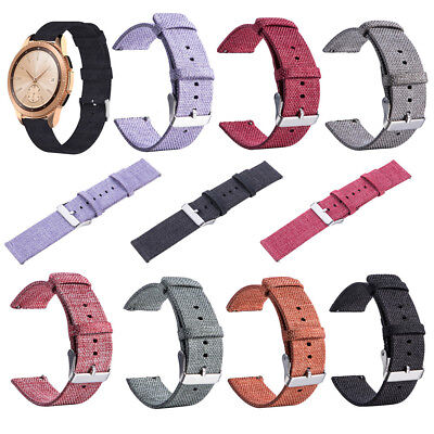 Woven Fabric Wrist Strap Replacement Watch Band For Samsung Galaxy Watch 42/46mm