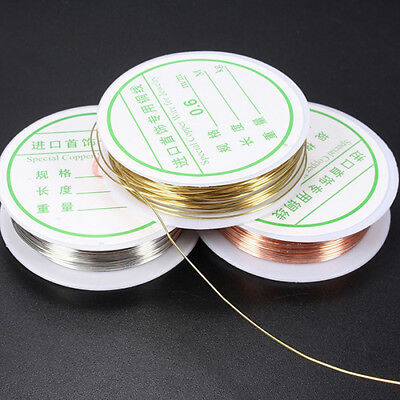 KD_ 0.3mm-0.8mm Plated Copper Wire Beads Jewelry Making Accessories DIY Craft