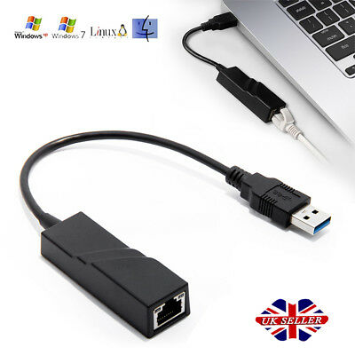 USB 3.0 to Gigabit RJ45 Ethernet LAN Adapter 1000Mbps for PC Laptop MacBook