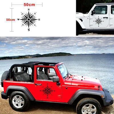1pcs 50x50cm Hood car sticker compass totem Black universal Decal Vinyl sticker