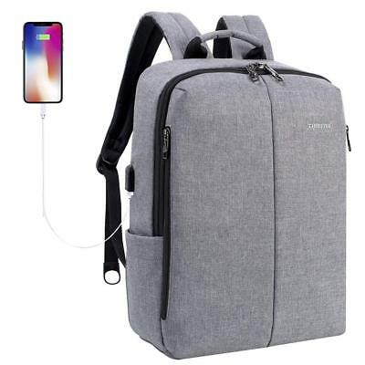 Slim School Bag Travel Daypack Water Resistant 15.6inch Notebook Laptop Backpack