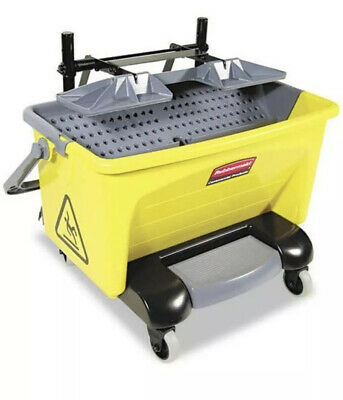 RubberMaid MDL-RUBQ920 Microfiber Wringer Bucket Pedal Yellow Fgq2000