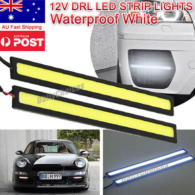 4x 12V Waterproof White DRL LED Strip Lights Camping Caravan Boat Car COB AU