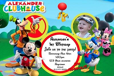 Mickey Mouse Clubhouse Birthday Party Invitations Personalized