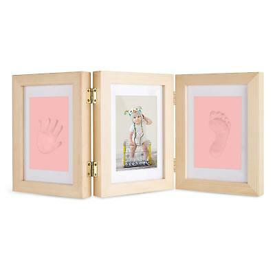 Baby Hand and Footprint Maker, Solid Wood Picture Frame Keepsake Kit