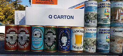 Vintage All Metal  Rare Lot X 12   Early Cascade Brewery Beer Can Collection