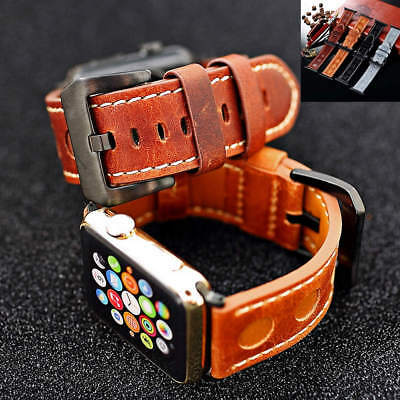 High Quality Genuine Leather Band Strap Bracelet For Apple Watch iWatch 38 42 mm