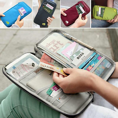Passport Wallet Travel Polyester Multifunction Credit Card Package ID Holder #ZO