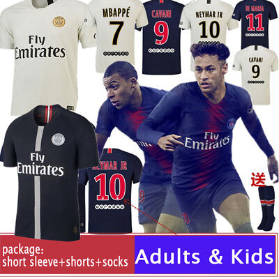 18-19 Soccer Suits Mbappe PSG Football Kits Soccer Jersey For Kids Adults SML