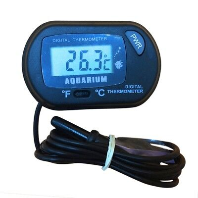 LCD F/C Digital Thermometer Aquarium Fish Tank Crawler Box Sucking Dive Pet Box