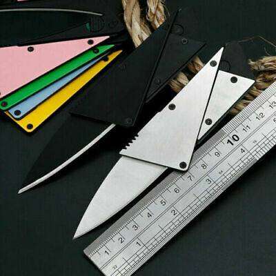 """4"""" Credit Card Tactical Fiexed Knife Outdoor Pocket Blade Open Stainless"""