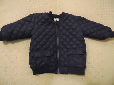 Baby Boys Jacket  waterproof & fully lined  Navy Blue Front Zip  BNWOT Size 00