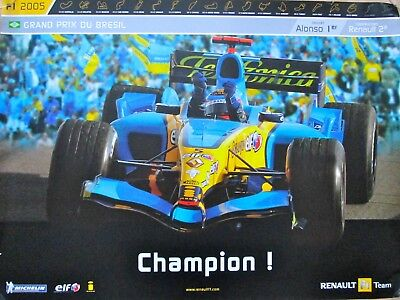 11 Posters Renault F1 Team 2005-2006