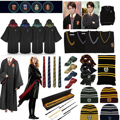 Harry Potter enfants adultes Cosplay Costume Robe manteau cravate foulard tube