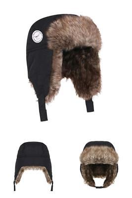 Boys Winter Hats Earflap Cap Waterproof Fabric Warm Faux Fur For 2-4 Years Old