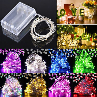 LED Battery AU Plug in Rice Wire Copper Fairy String Lights Christmas Tree Decro