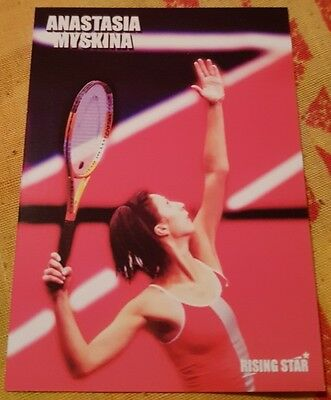 2002 Anastasia MYSKINA Rising Star Limited Edition card #17/50 Tennis