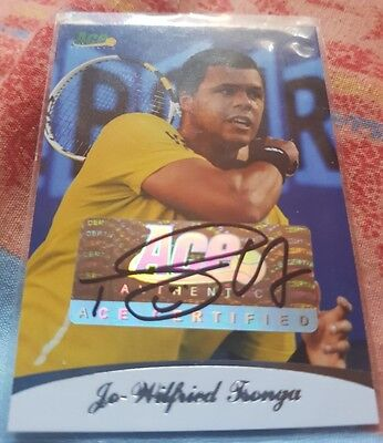 Jo-Wilfried TSONGA Ace Authentic Autograph trading card #83/85 Tennis Auto