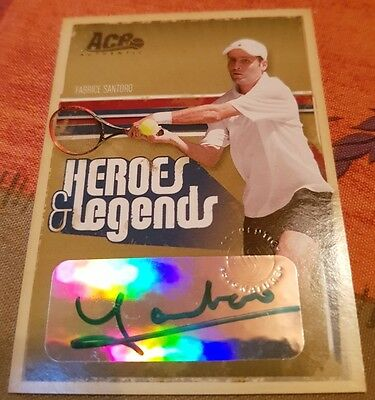Fabrice SANTORO Ace Authentic HEROES & LEGENDS Autograph card #180/275