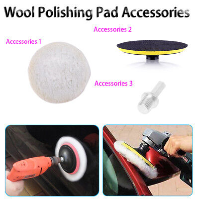 4/5/6 inch Wool Polishing Buffing Waxing Pad Accessory Plate M14 Connector Drill