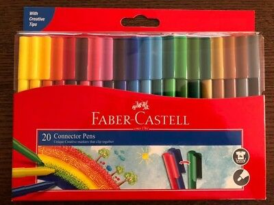 20 pcs Faber Castell Connector Marker Pens for Christmas Gift