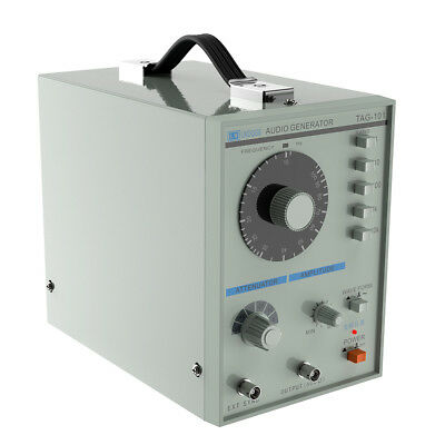 220V TAG-101 Low Frequency Audio Signal Generator Source 10Hz-1MHz CE RoHS gray