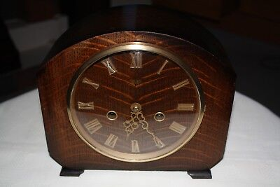 Vintage 1960s Smiths Striking Mantel Clock - Cleaned and Serviced