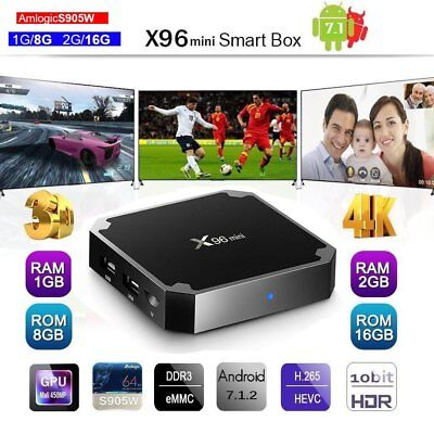 Android 7.1 TV Box x96 Mini 4K 2018 Version 2GB + REMOTE - 17.6 ADDONS FREE IPTV