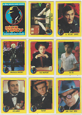 Dick Tracy - Complete Card Set (88/11) - 1991 Topps - NM