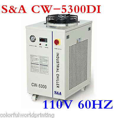 110V 60HZ S&A CW-5300DI Industrial Water Chiller for 200W CO2 laser, Laser Diode