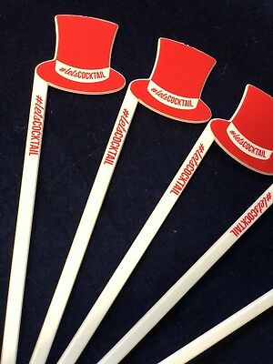 SMIRNOFF GORDONS BAILEYS CAPTAIN MORGANS GLASSES COCKTAIL STIRRERS STICKS X5 BN