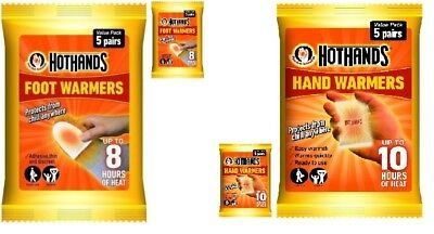 10 Pairs Hot Hand Warmers Hothands Hand / Feet Foot Toe Heat Warming Winter Pack