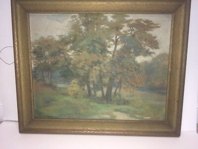 BEAUTIFUL Antique Vintage ORIGINAL Carrie B Robinson Signed Oil Painting Art!!