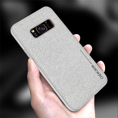 For Samsung Galaxy S8 S9 Plus Fabric Magnetic Shockproof Soft TPU Case Cover