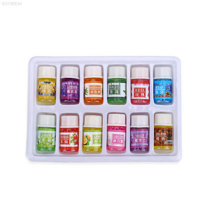 1EF6 12pcs/Set Pure Lavender Essential Oils Pack Set Aromatherapy 3Ml Fragrance