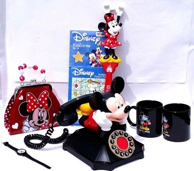 Vintage Walt Disney Mickey and Minnie Mouse Collectibles LOT