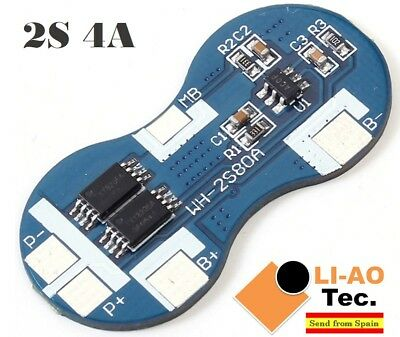 2S 4A 7.4V Li-ion Lithium 18650 BMS PCM Battery Protection Board